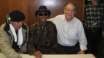 Little Freddie, 'Wacko' Wade an me at the 14th Lucerne Bluesfestival 2008, Lucerne/Switzerland. Thank you Freddie, tha