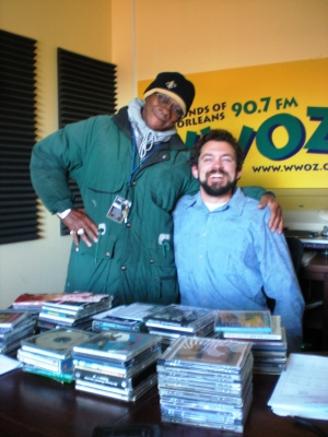 DR. BONES rode his 'TWO WHEEL CADILLAC' to the studio in his 'SNOW GEAR' for an 'on-air'  interview with DR. DELTA